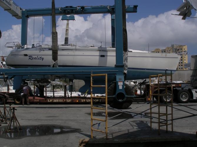 Catalina 47', sailing, Miami