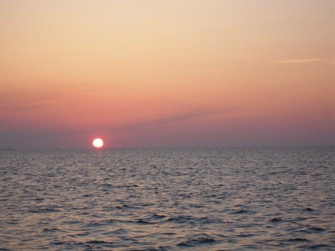Caribbean: Sea sunset, sailing