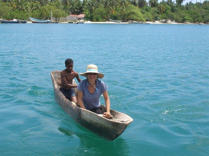 Haiti, Ille a Vache, canoe