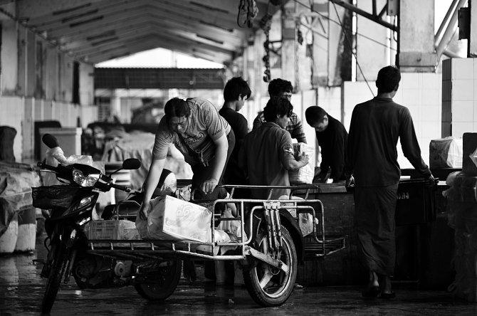 Ranong, seafood market, Thailand