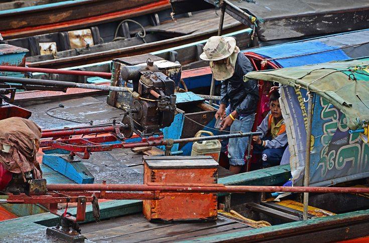 Ranong, seafood market, Thailand, boats