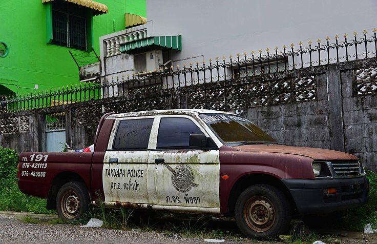 Ranong, police car, Thailand