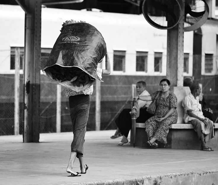 Myanmar, Burma, train