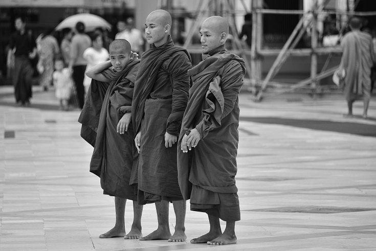 Myanmar, Burma, monk, temple
