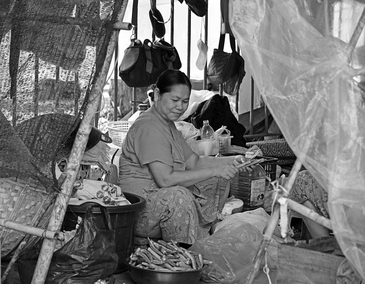 Myanmar, Burma, roadside shack