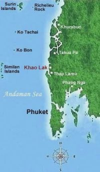Khao Lak location map