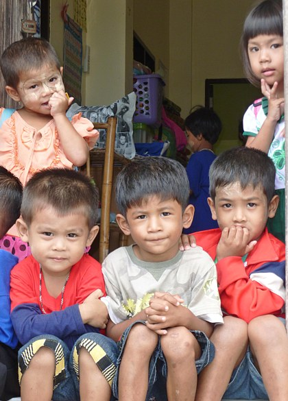 beautiful Burmese children Khuk Kak