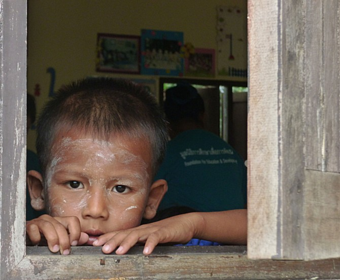 Burmese child Khuk Kak