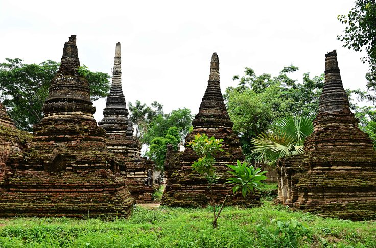 Burma, Hsipaw, Bagan, temples