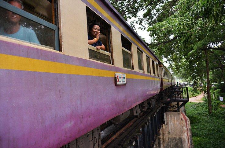 Kanchanaburi, train, River Kwai