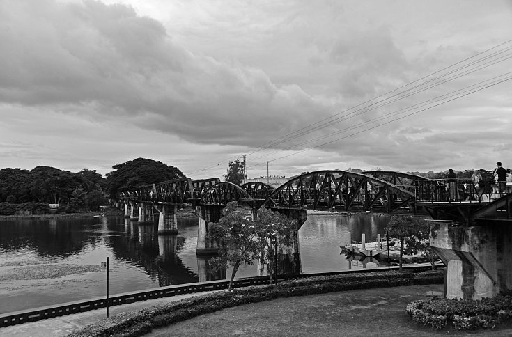 Kanchanaburi, train, River Kwai, bridge