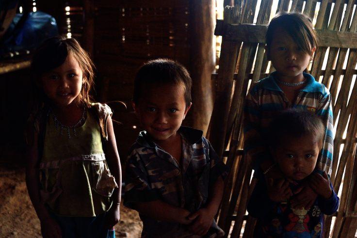 Lahu Village, children, Luang Namtha, Laos, trekking