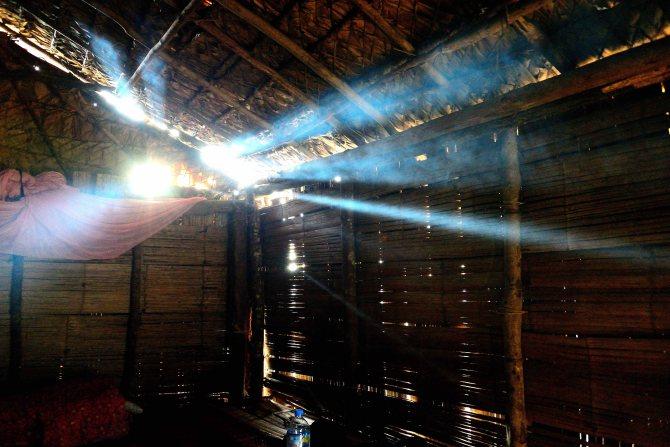 Lahu Village, huts, Luang Namtha, Laos, trekking