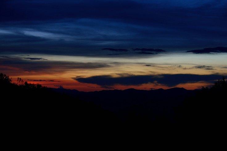 Lahu Village, sunset, Luang Namtha, Laos, trekking