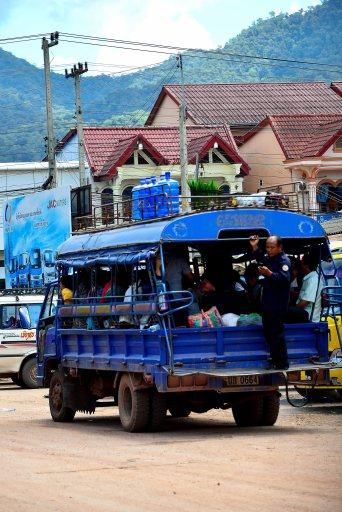 Laos: Luang Namtha's Songthaew transport
