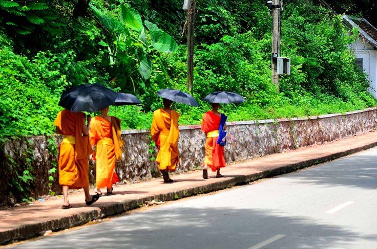 Luang Prabang, Laos, monks
