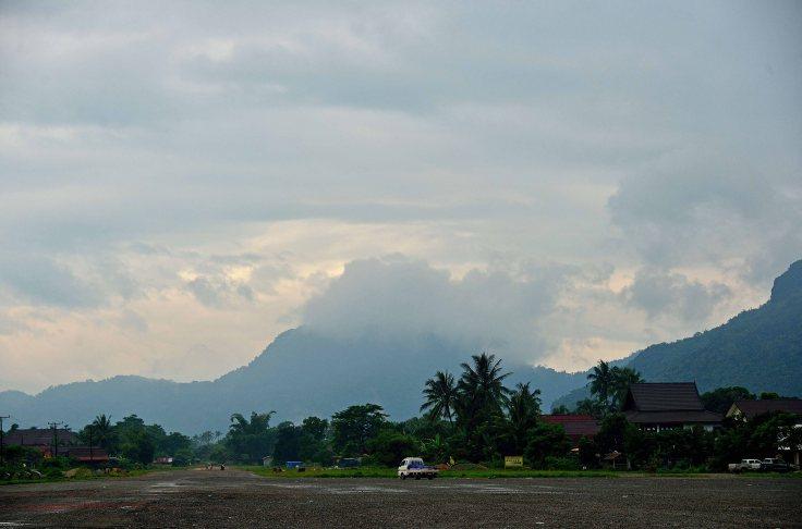 Vang Vieng, Laos, air strip
