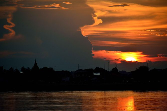 Thakhek, Laos, SE Asia, sunset