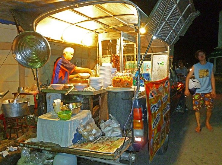 Kanchanaburi, soup truck, food