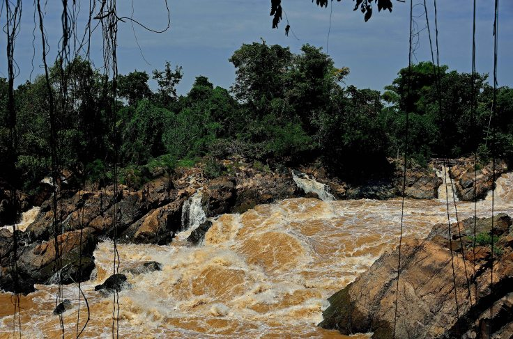 Laos, Don Khong, islands, Li Phi, waterfalls