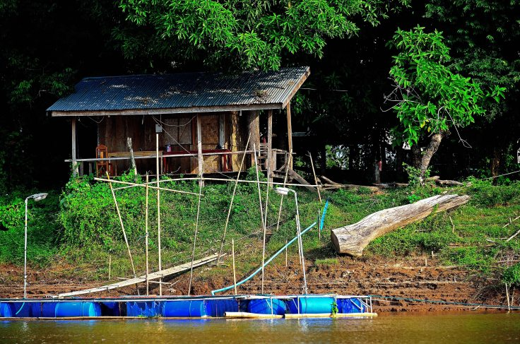 Laos, Don Khong, islands, Li Phi, waterfalls