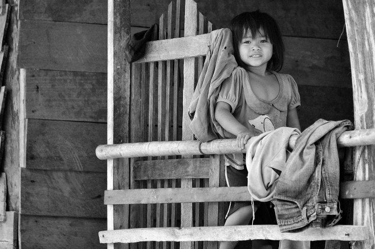 Laos, Don Khong, islands, child