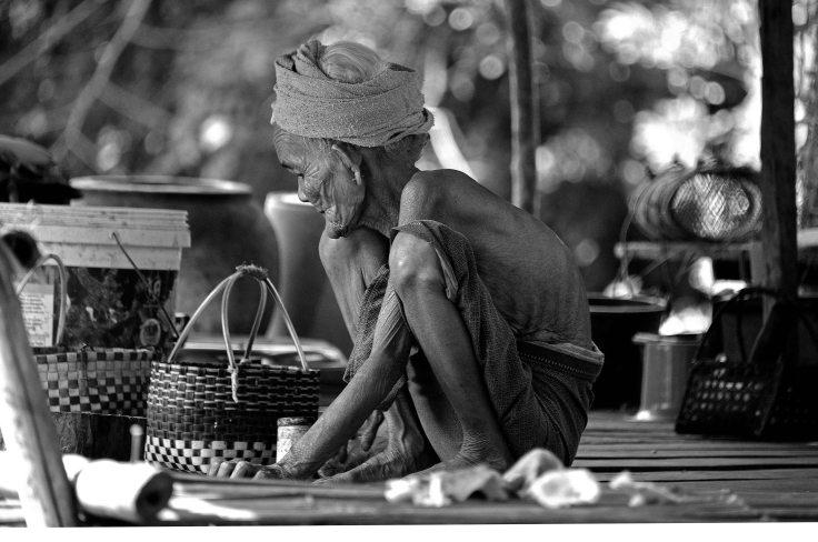 Laos, Don Khong, islands, elderly