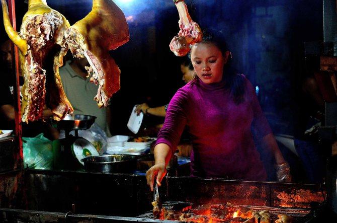 Banlung, Cambodia, market