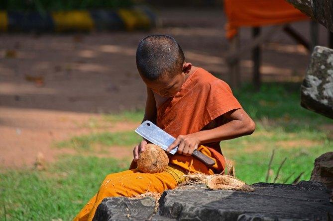Monk, Cambodia, SE Asia, temples