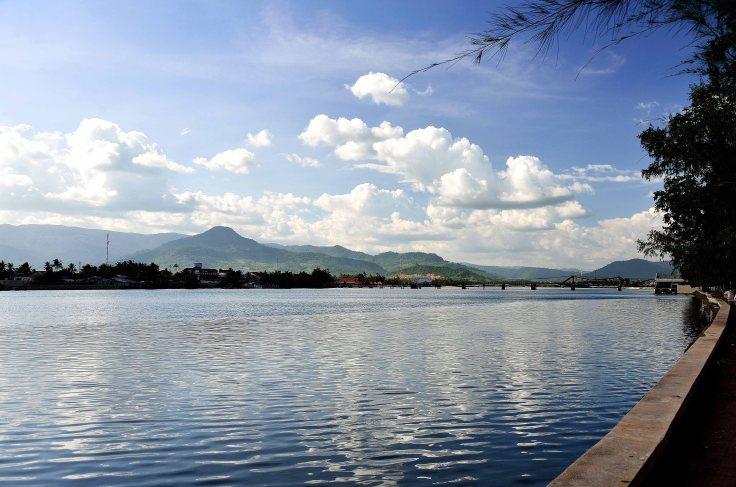Cambodia, Kampot, river