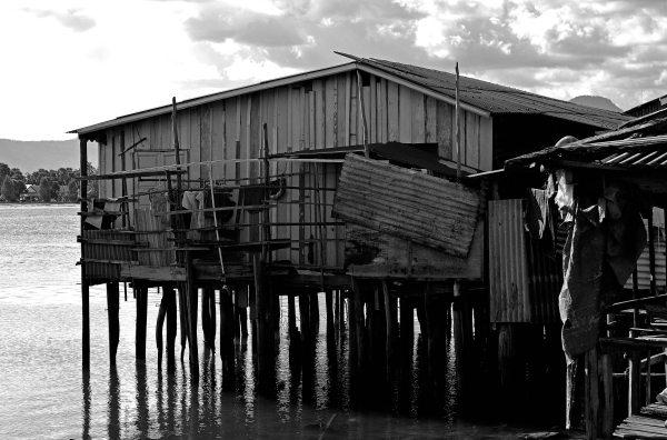 Kampot River home, Cambodia, SE Asia