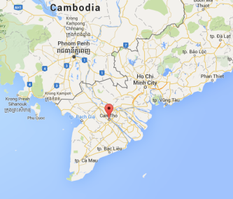 Can Tho, Vietnam, map