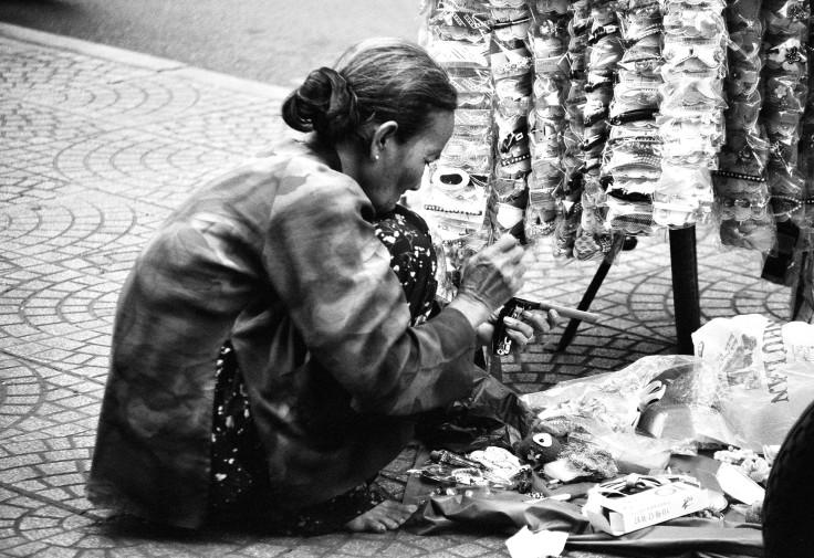 Saigon, Vietnam, street seller