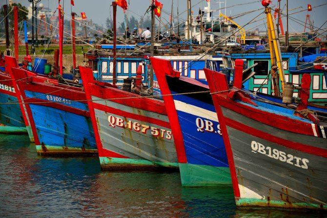 boats, Dong Hoi, Vietnam