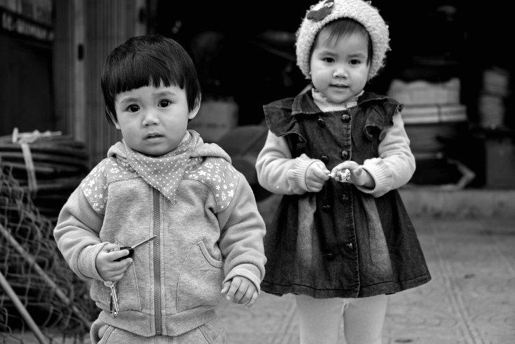 children, Dong Hoi, Vietnam