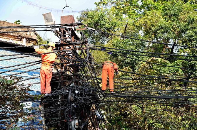 Hanoi, Vietnam, power lines