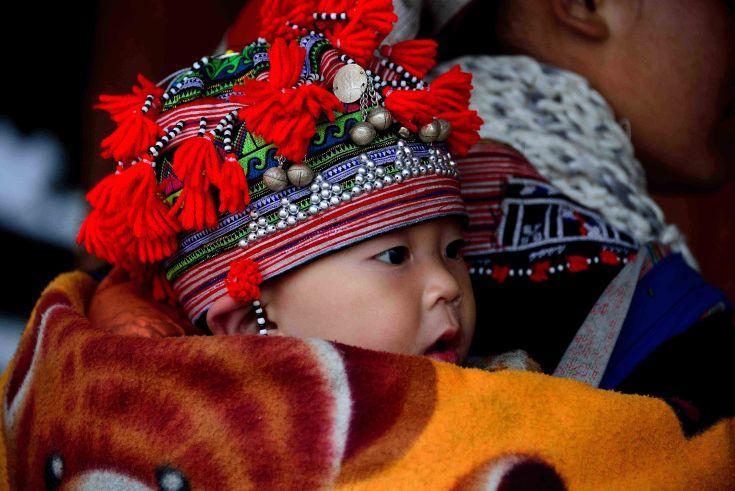 H'mong Infant, Sapa, Vietnam