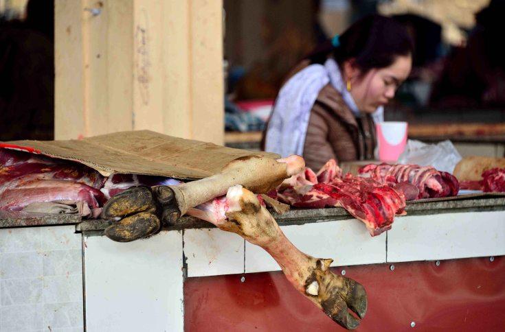 Sapa, Vietnam, market, butcher