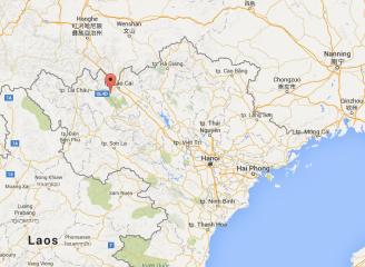 Sapa, Vietnam, China, map