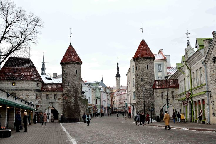 Tallinn, Estonia, gates, Viru Gates, The Baltics, Europe