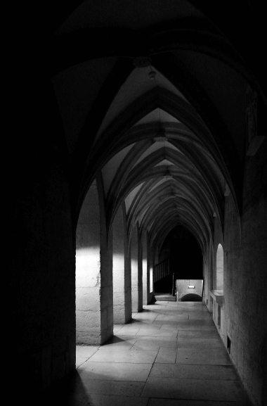 Episcopal Castle cloister, Saaremaa Island, Estonia, The Baltics, Europe