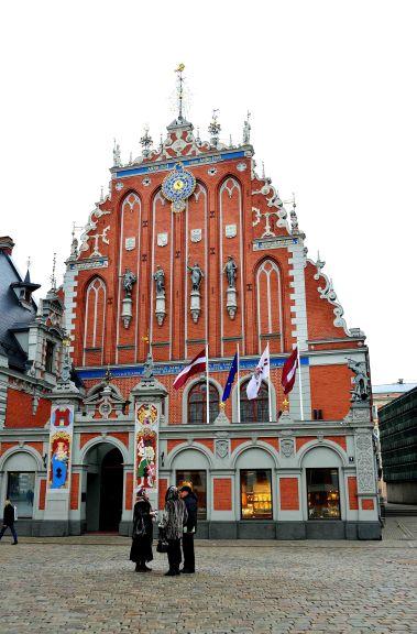 Latvia, Riga, architecture, clock, Baltic States, Europe