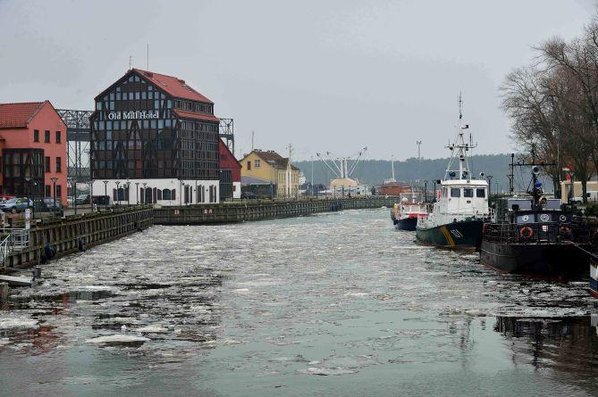 Frozen harbour - Klaipėda