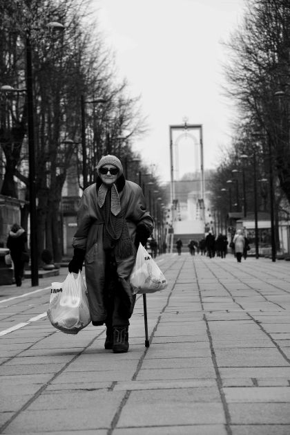 Kaunas: Old lady, Lithuania, Baltic States, Europe