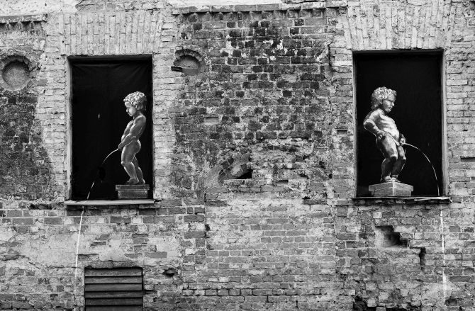 Street art in B&W - Kaunas, Lithuania