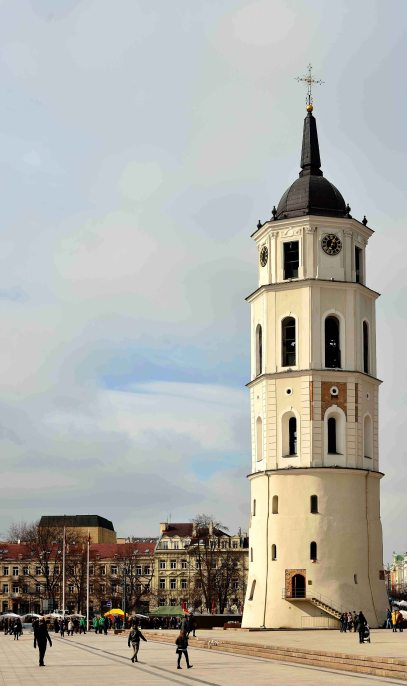 Vilnius, bell tower, lithuania