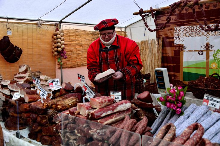 Vilnius, Kaziukas Fair sausages, Lithuania, Baltic States, Europe