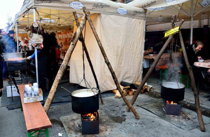 Vilnius,Kaziukas Fair hot soup, lithuania