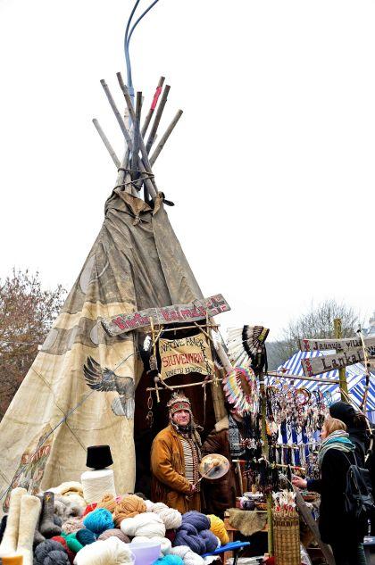 Vilnius, Vilnius: Kaziukas Fair Teepee, Lithuania, Baltic States, Europe