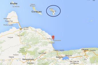 Netherlands Antilles: Bonaire location map